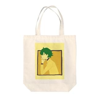 かんがえちゅう Tote bags