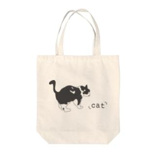 hitokoto-kotoba_cat Tote bags