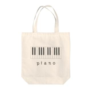 hitokoto-kotoba_piano Tote bags