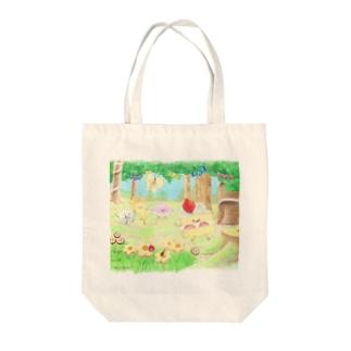 ケーキちゃん Tote bags