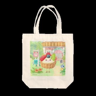 さとうめぐみ絵本グッズのフルーツタルトさん Tote bags