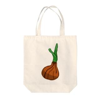 芽の出たタマネギ Tote bags