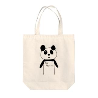 現実パンダ Tote bags