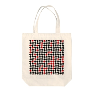 Hounds Tooth Check01 Tote bags
