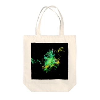 Pastel Galaxy(Green and Yellow) Tote bags