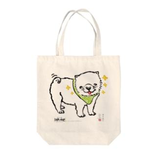 江戸っ仔犬 散歩行こうよ トートバック Tote bags