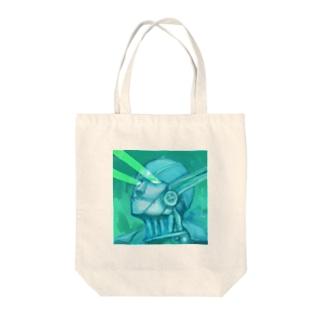 目からビーム(雷神紋) Tote bags