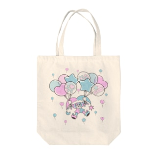 Floating on a Balloon Tote bags
