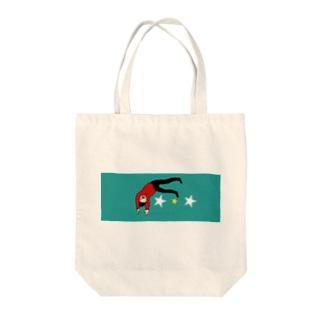 さかさま Tote bags