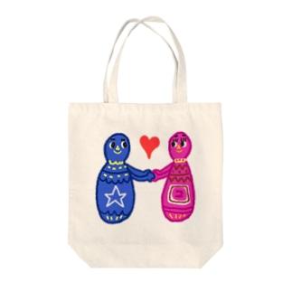 LOVE-P Tote bags