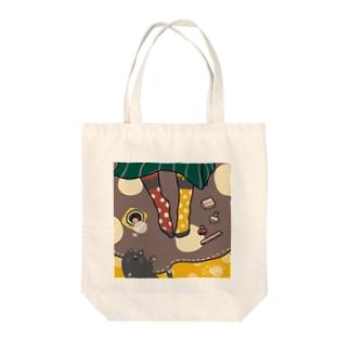くつろぎ靴下屋さん【猫】 Tote bags