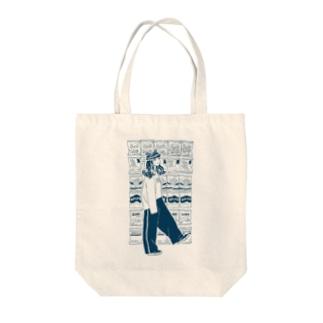 ポテチちゃん Tote bags