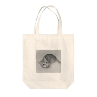 モノクロ猫 Tote bags