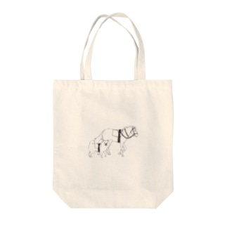 うまといぬ Tote bags