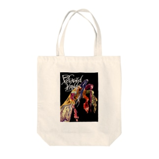 deformed hands Tote bags