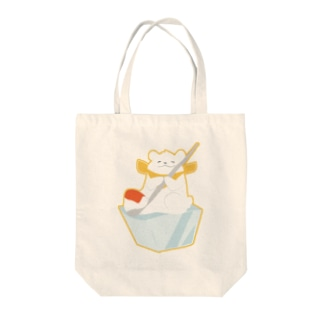かき氷のシロクマ Tote bags