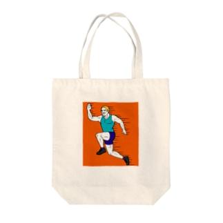 スポーツの秋だよマイケゥ Tote bags