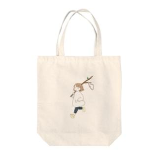 枝パンツ Tote bags