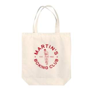 MARTIN'S BOXING CLUB〈Circle_Red〉 Tote bags