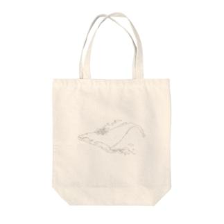 たなびくくじら Tote bags