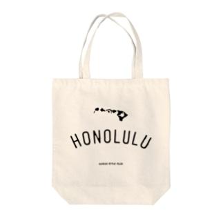 HONOLULU BLK LOGO Tote bags