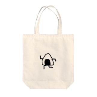 走るおにぎり Tote bags