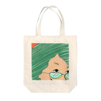 きびしい Tote bags