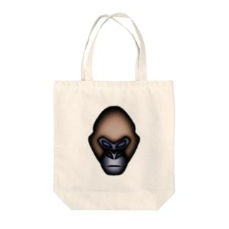 ゴリラ Tote bags