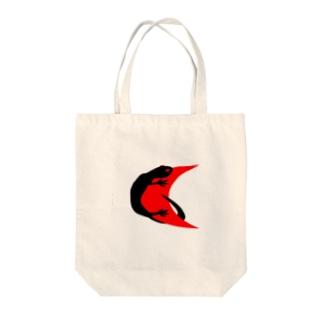 レッドムーン Black_Lizard Tote bags