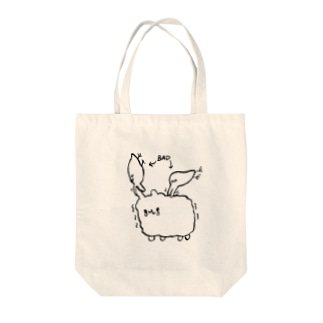 akioco's character goodsの害鳥対ひつじ Tote bags