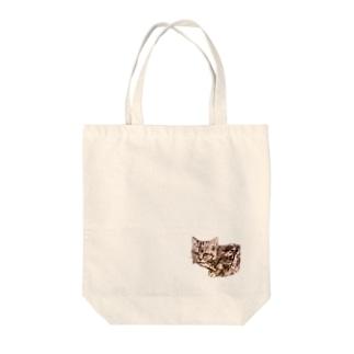 お魚くわえた野良猫 Tote bags