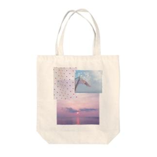 水玉と風のパッチワーク Tote bags