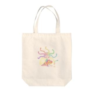 癒し系メドゥーサ&キマイラ Tote bags