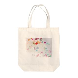 カラフルスパンコール Tote bags