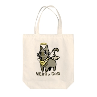 NEKO is GOD Tote bags