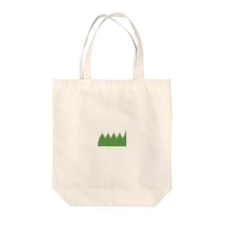 弁当のおかずを仕切る緑のやつ Tote bags