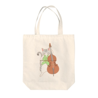 contrabass cat Tote bags