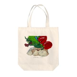 メルルーサの塩焼き Tote bags