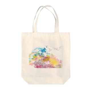 宇宙の波 Tote bags