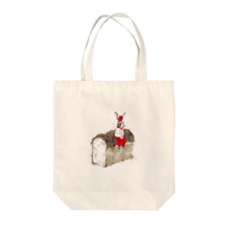 ウサギ食パン Tote bags