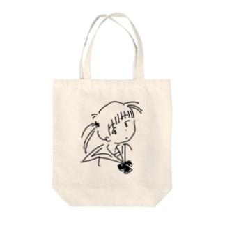 女学生 Tote bags