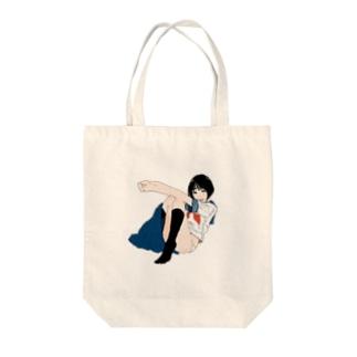 スクールガールバイバイ Tote bags