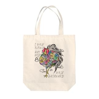 Flower bird Tote bags