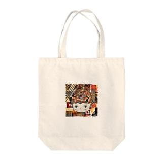 レトロフューチャー女子 Tote bags