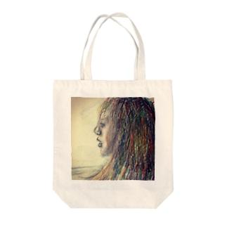 女の人です。 Tote bags