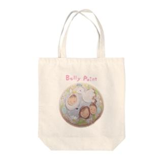 コウノトリと赤ちゃん トートバッグ