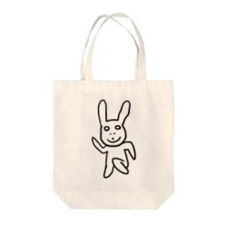 2分で描いたウサギ Tote bags