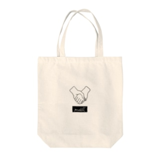 milk(hold hands/black) Tote bags
