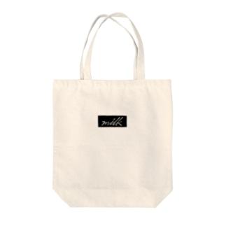 milk(logo/black) Tote bags