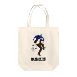 IN A MELLOW TONE -blue- Tote bags